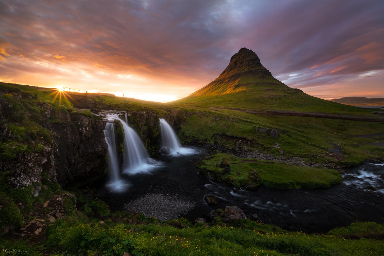 Mt. Kirkjufell & Kirkjufellsfoss in Iceland by Roger Kristiansen