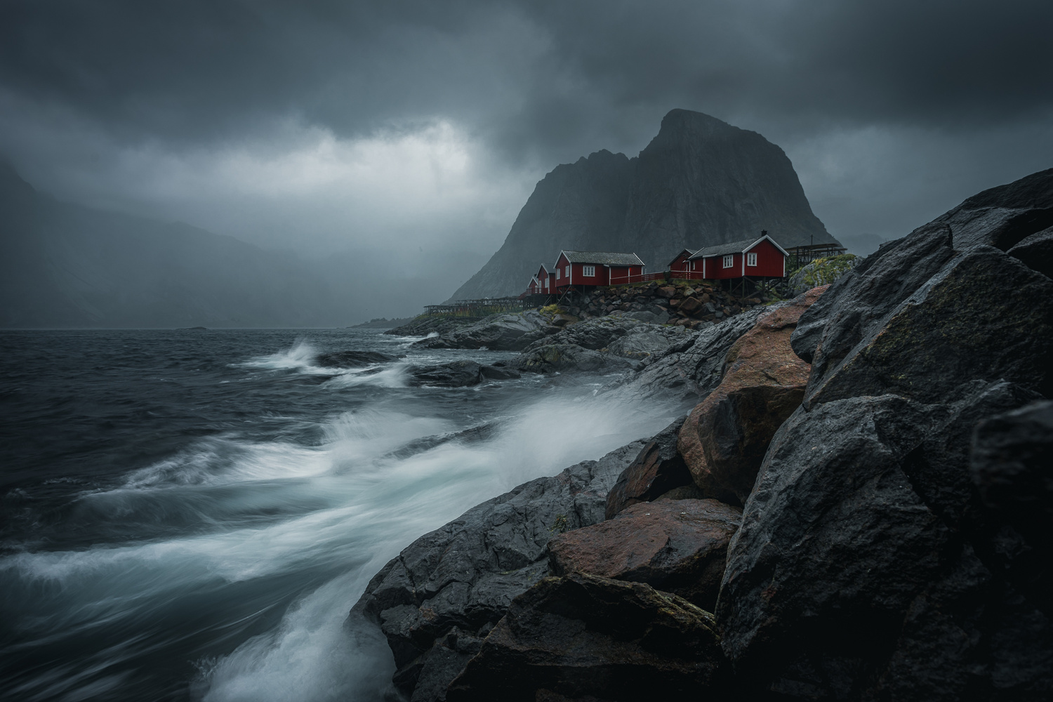 A stormy morning in Lofoten by Roger Kristiansen
