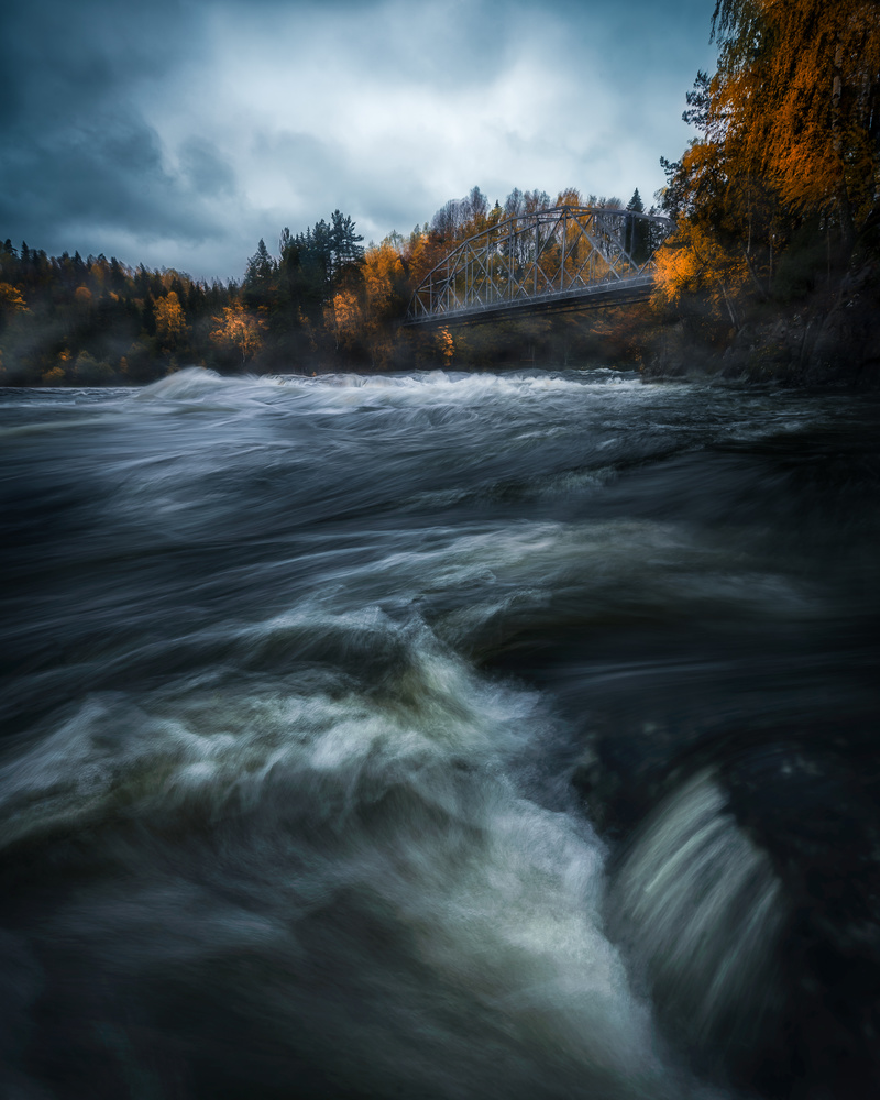 Autumn down by the river by Roger Kristiansen