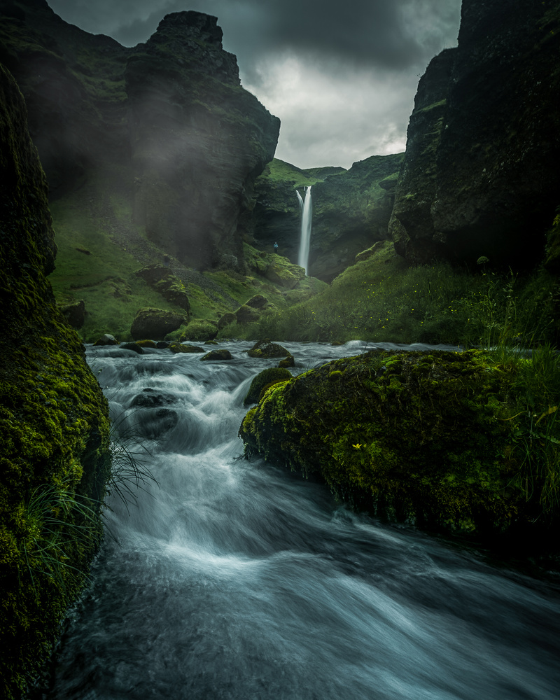 Kvernufoss, Iceland by Roger Kristiansen