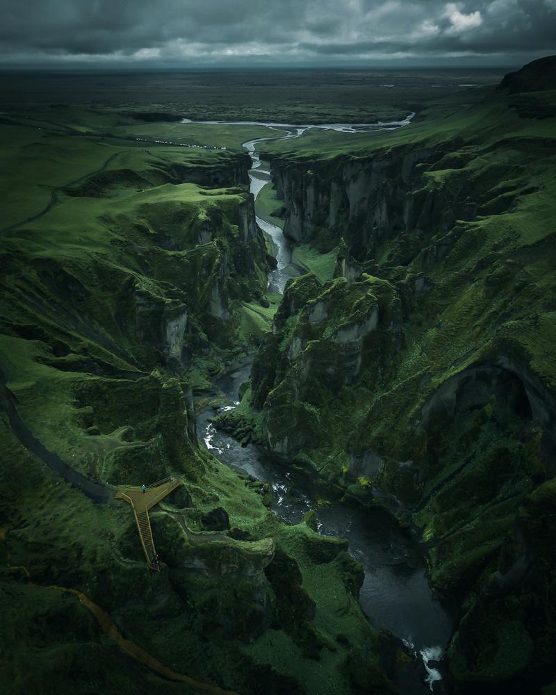 Magnificent Fjaðrárgljúfur in Iceland by Roger Kristiansen