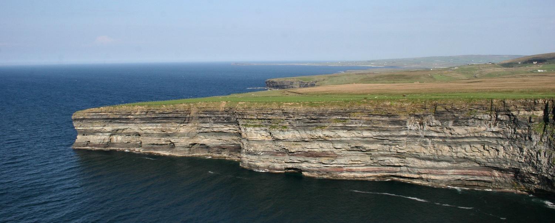 Cliffs Of Ceide  Ireland. by Edward Moran