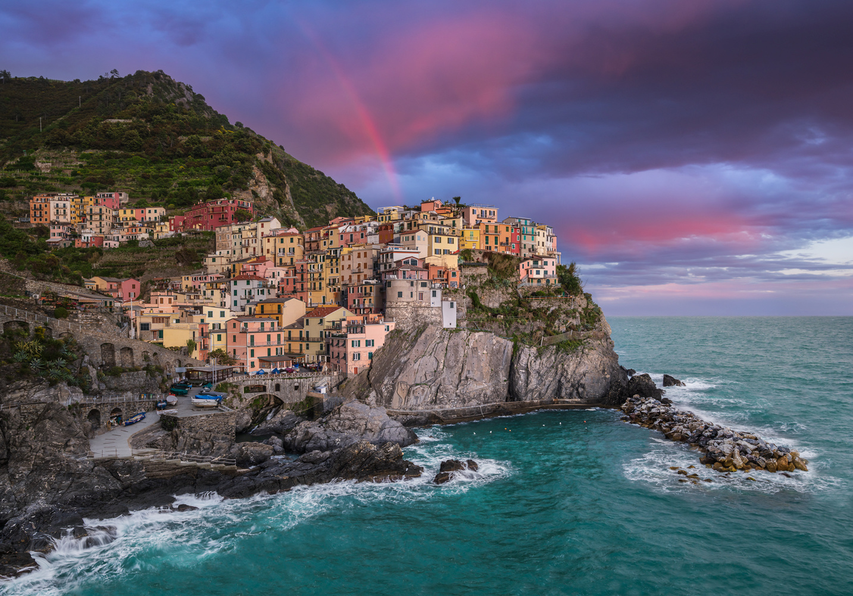 LOVE FROM THE SKY | Manarola, Cinque Terre Italy by Luigi Sonnifero