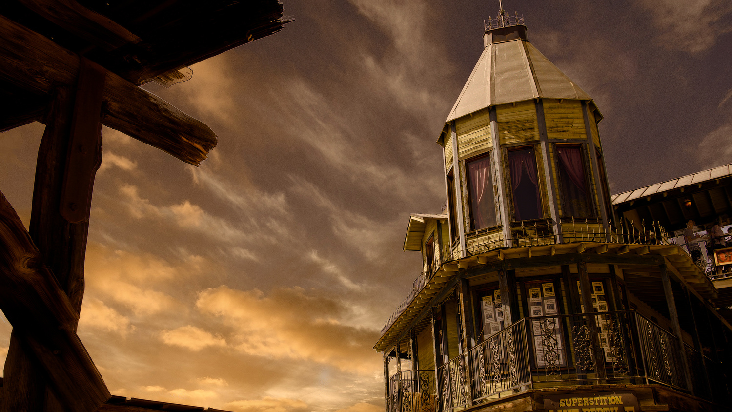 Goldfield Ghost Town by Mel Martin