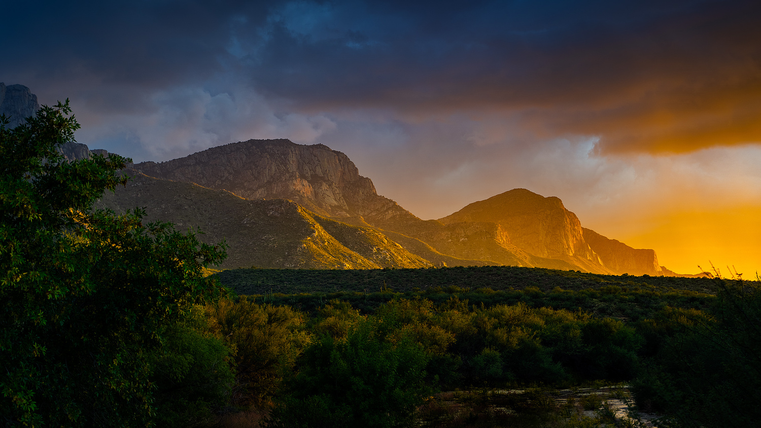 Sunset at Catalina State Park by Mel Martin