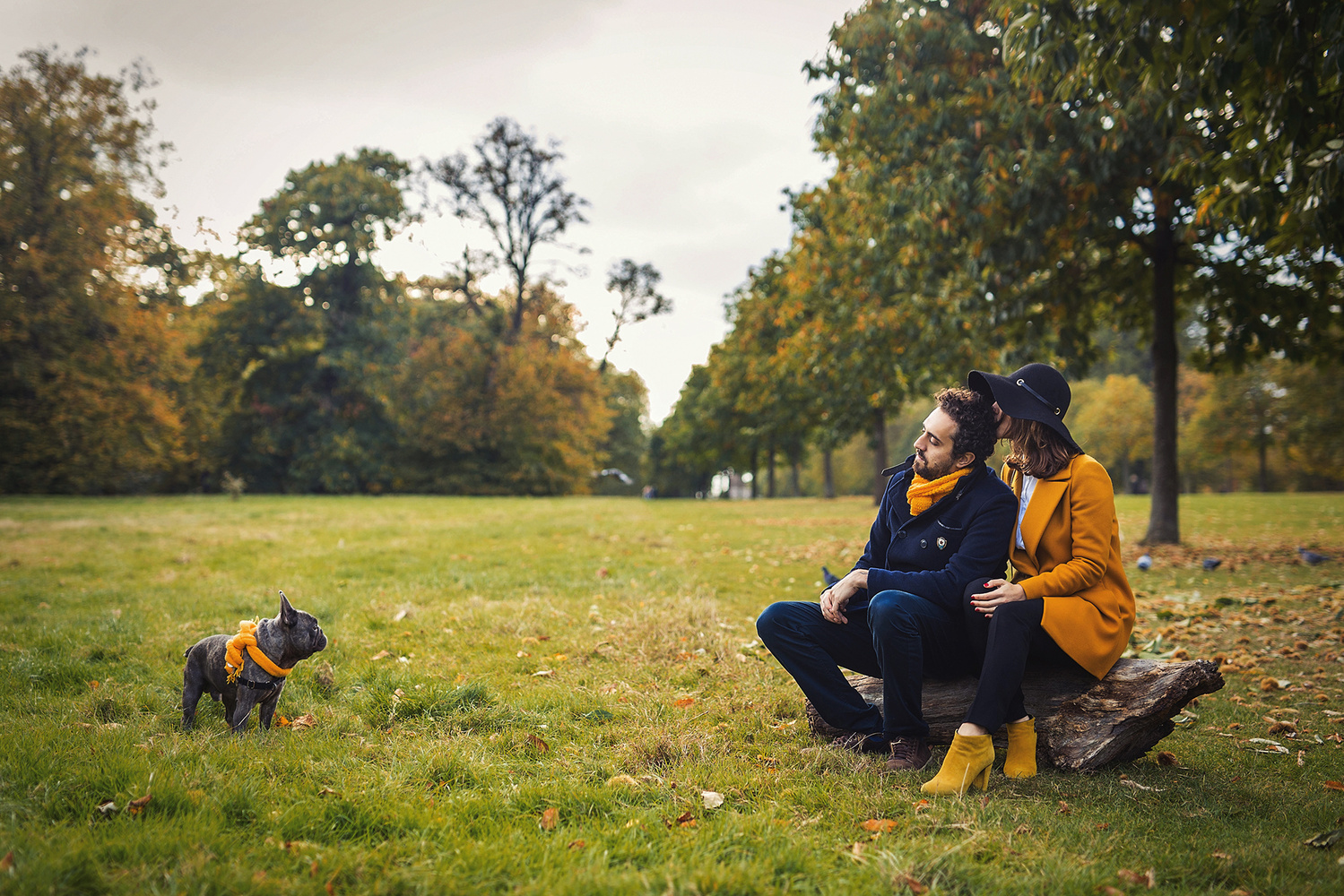 Autumn Family Portrait by Yulia Oliver-Taylor