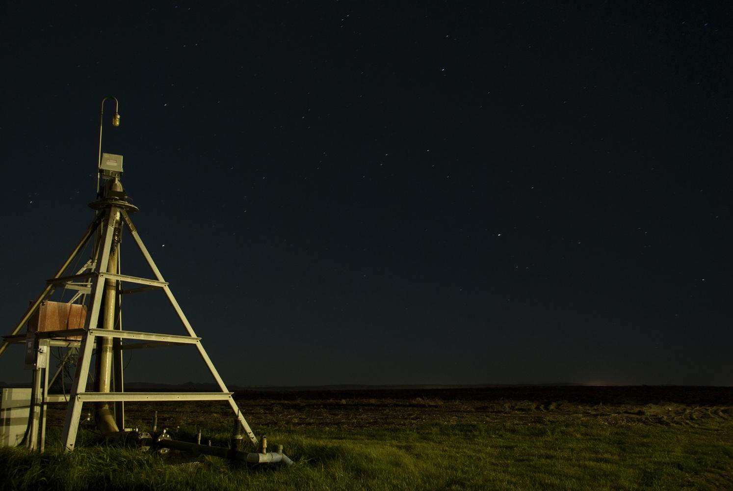 Night farm by Ronald McIntyre