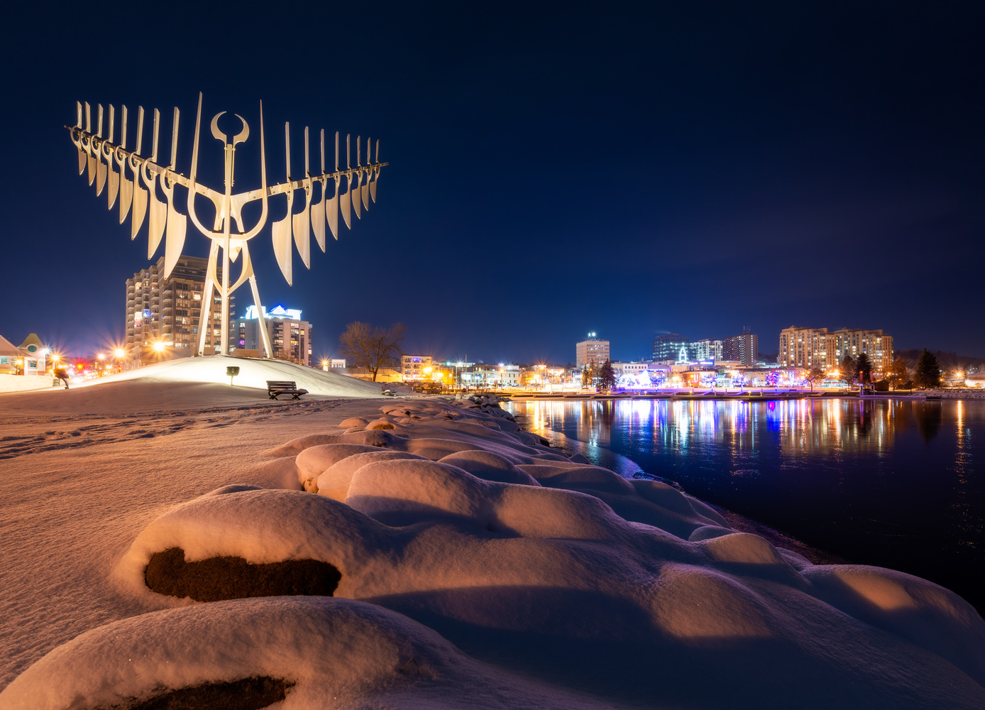 The City's Winter Spirit by Will Dunn
