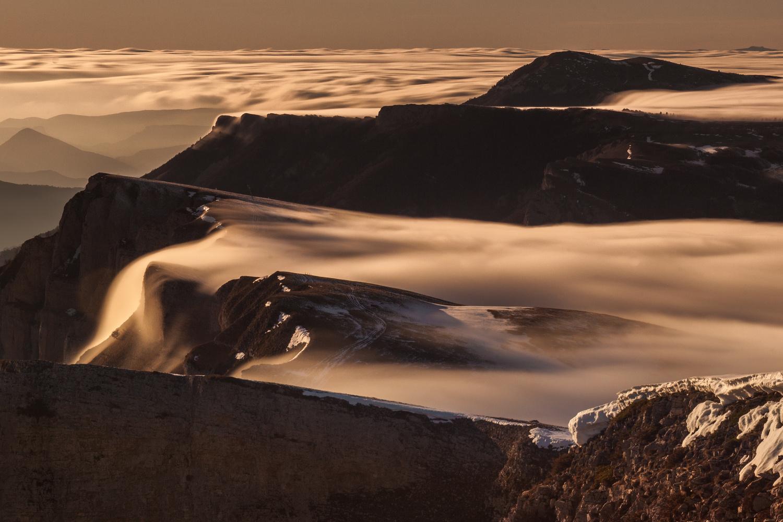 """Cloudfalls"" in Vercors by david huguet"