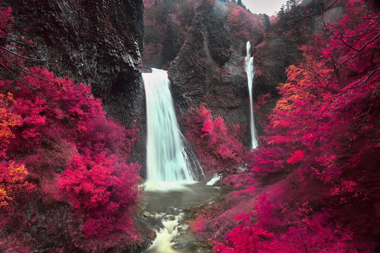 Waterfall (Aerochrome film-like rendering) by david huguet