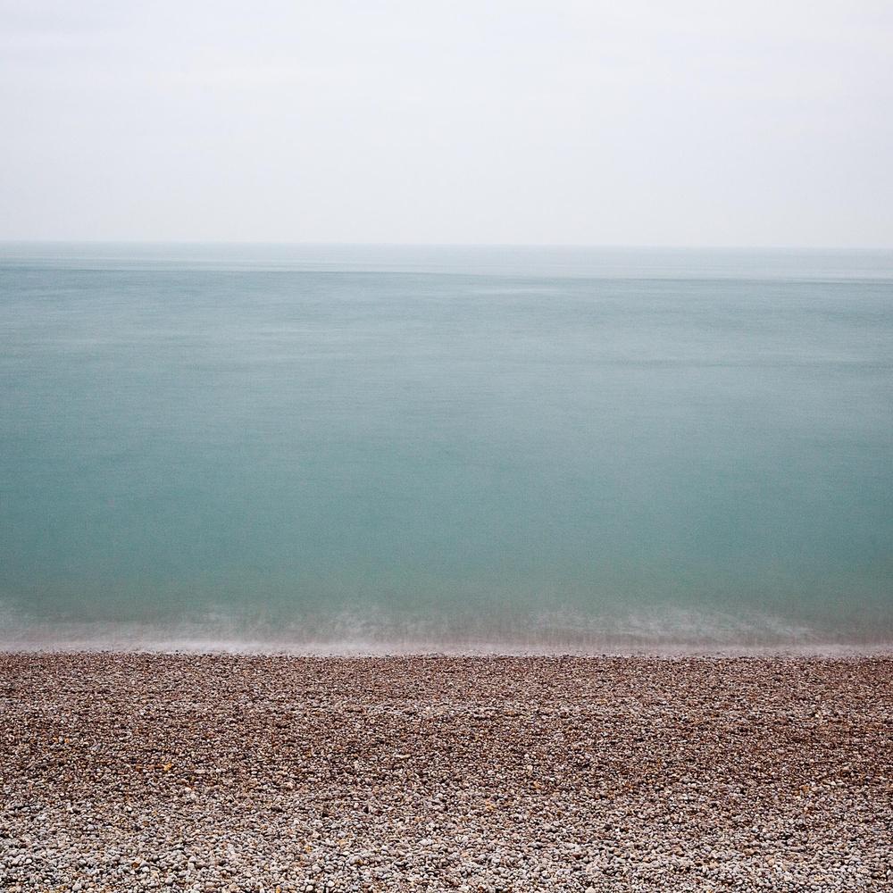 Normandy beach in winter by david huguet