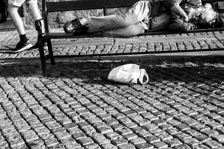 Sleeping man by Hjalte Gregersen