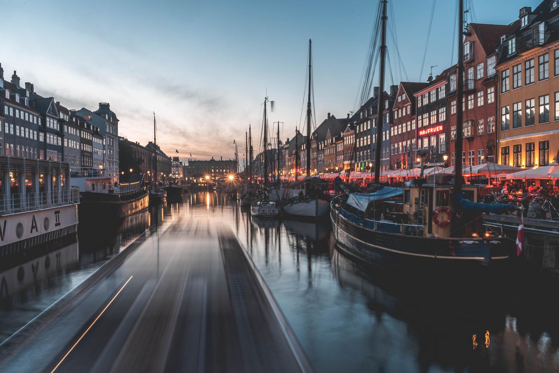 Long exposure of Nyhavn, Copenhagen by Hjalte Gregersen