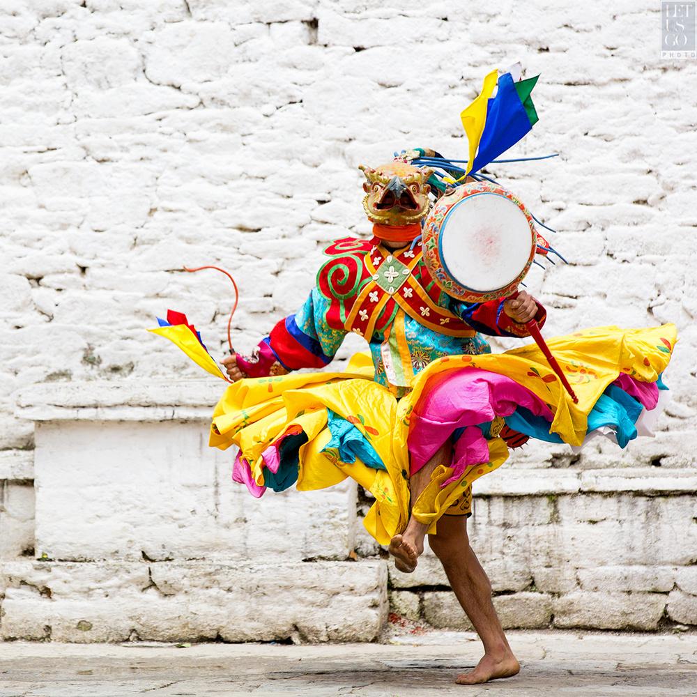 Bhutan - Dancer I by Mark Dunsmuir