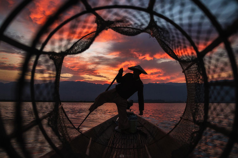 Lake fisherman by Nejc Trpin