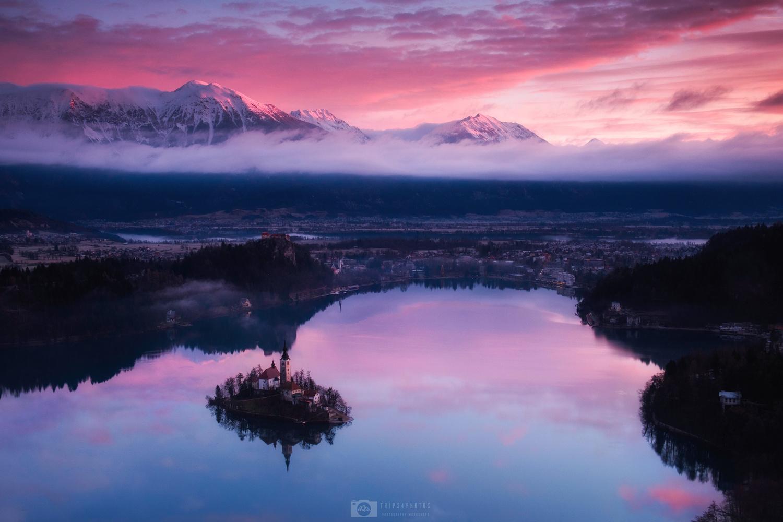 Bled lake by Nejc Trpin