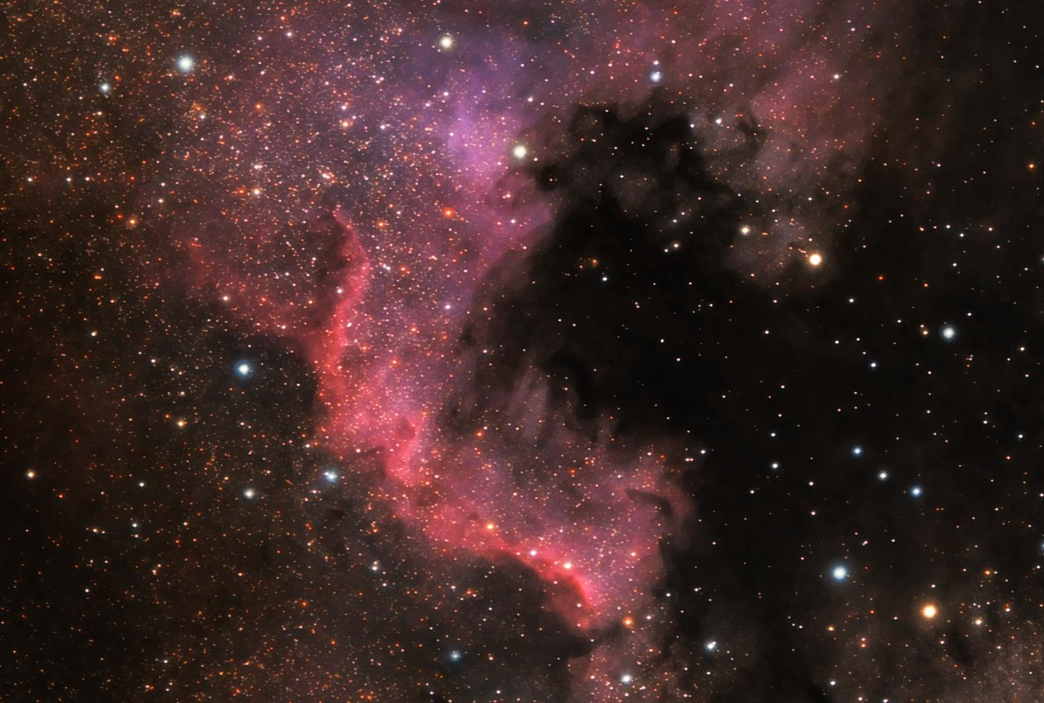 Cygnus Wall in the N-America Nebula by Ken Mitchell