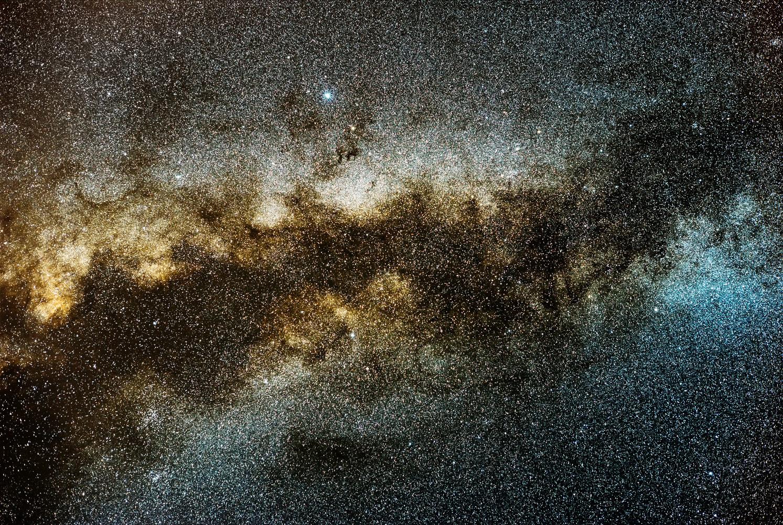 Milky way details by Ken Mitchell