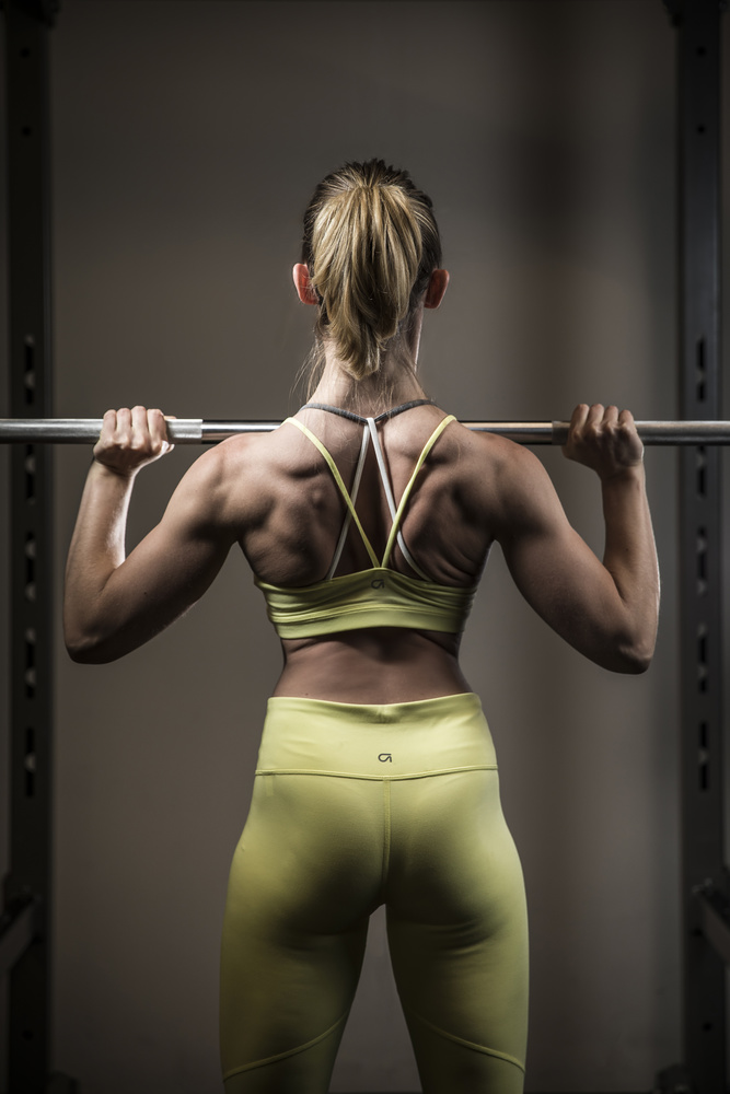Ashleigh in the gym by Brad Wendes