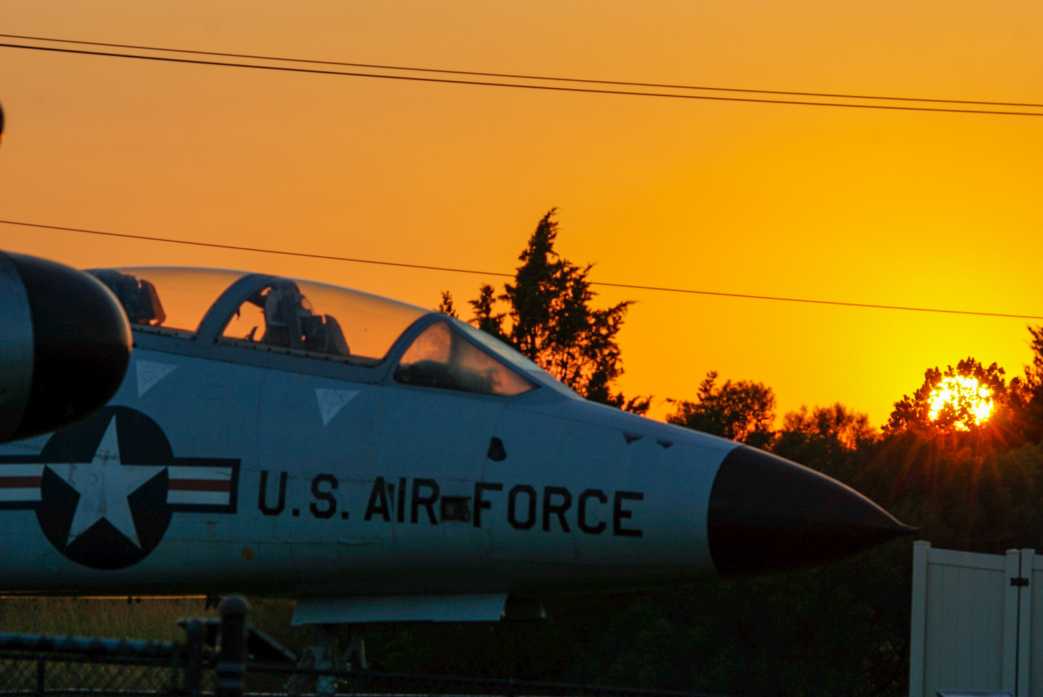 Warm sunset over Airforce by Clifford Halfast