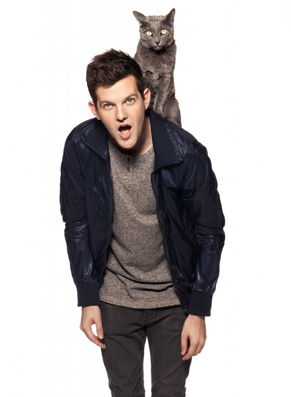 Dillon Francis (and Crouton the Cat) by Corina Marie Howell
