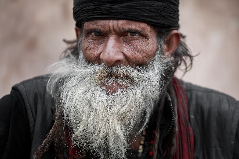Sadhu Portrait by Gil Kreslavsky