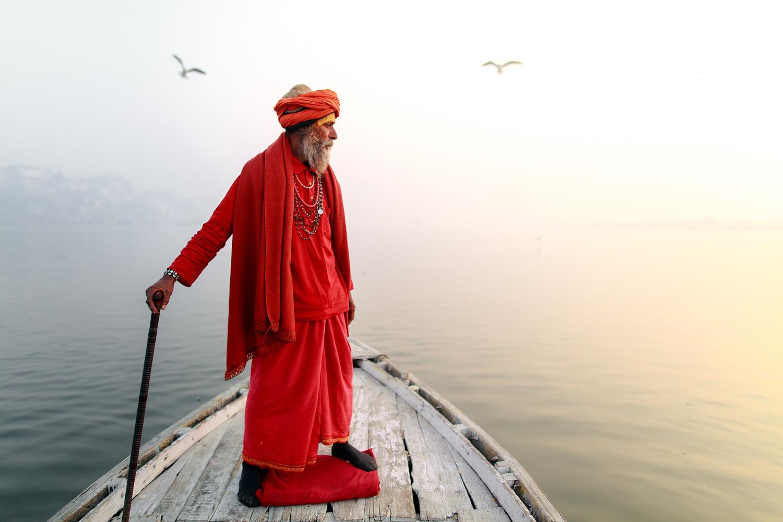 Holly man on a boat by Gil Kreslavsky