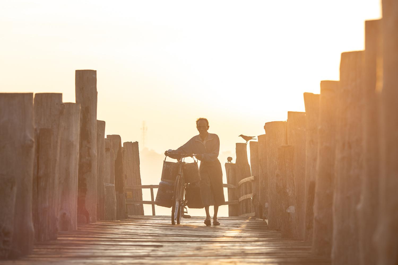 Morning on U-Bein Bridge by Gil Kreslavsky