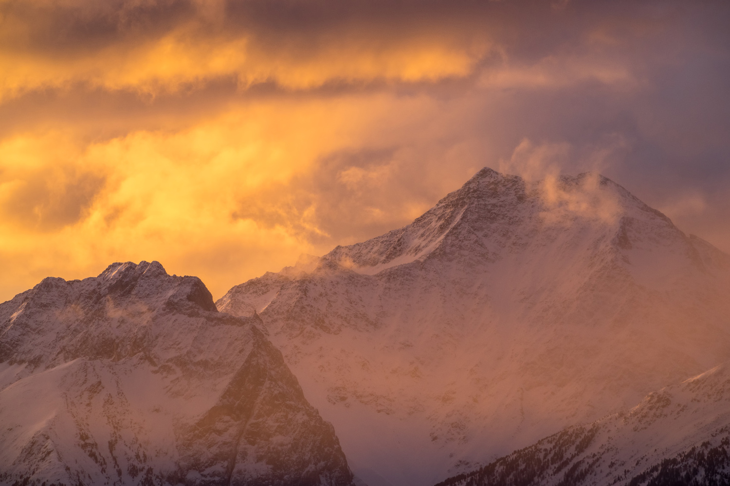 burning mountains by Otto Schlemmer