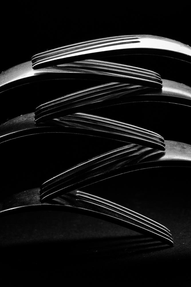 stacked forkes by Jeremy Martignago