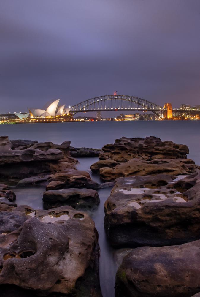 Sydney harbour bridge and oprahouse by Jeremy Martignago