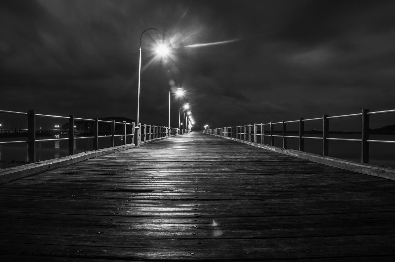 local Jetty at night by Jeremy Martignago