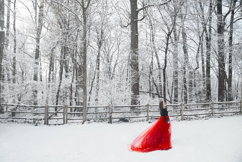 Red snow by Ana luisa szilagyi