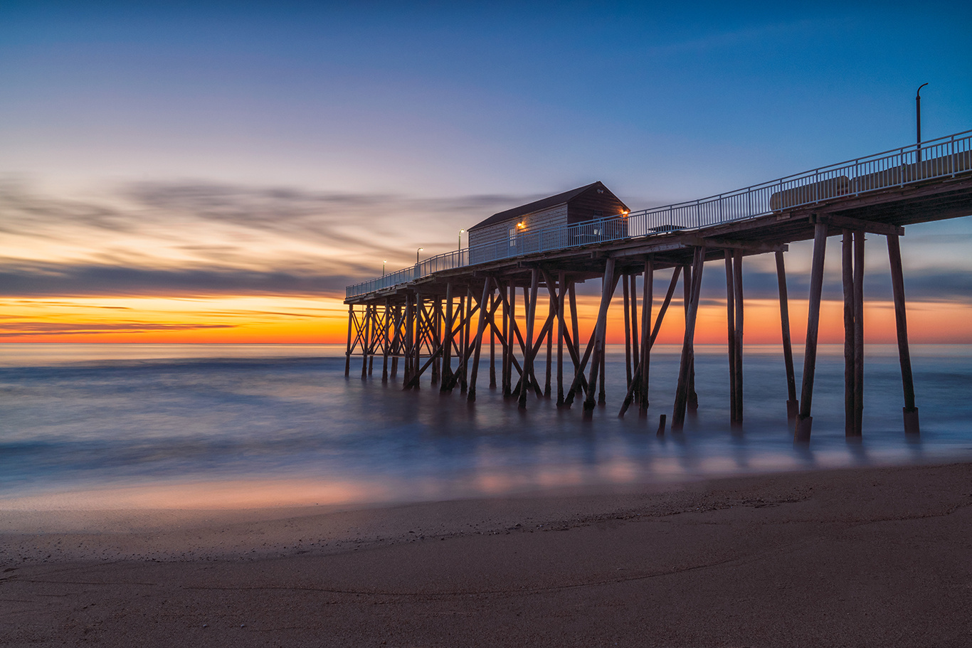 Sunrise at Belmar Pier by Brent Guiliano