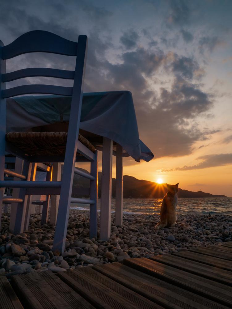 Greek summertime dinner by Nestoras Kechagias