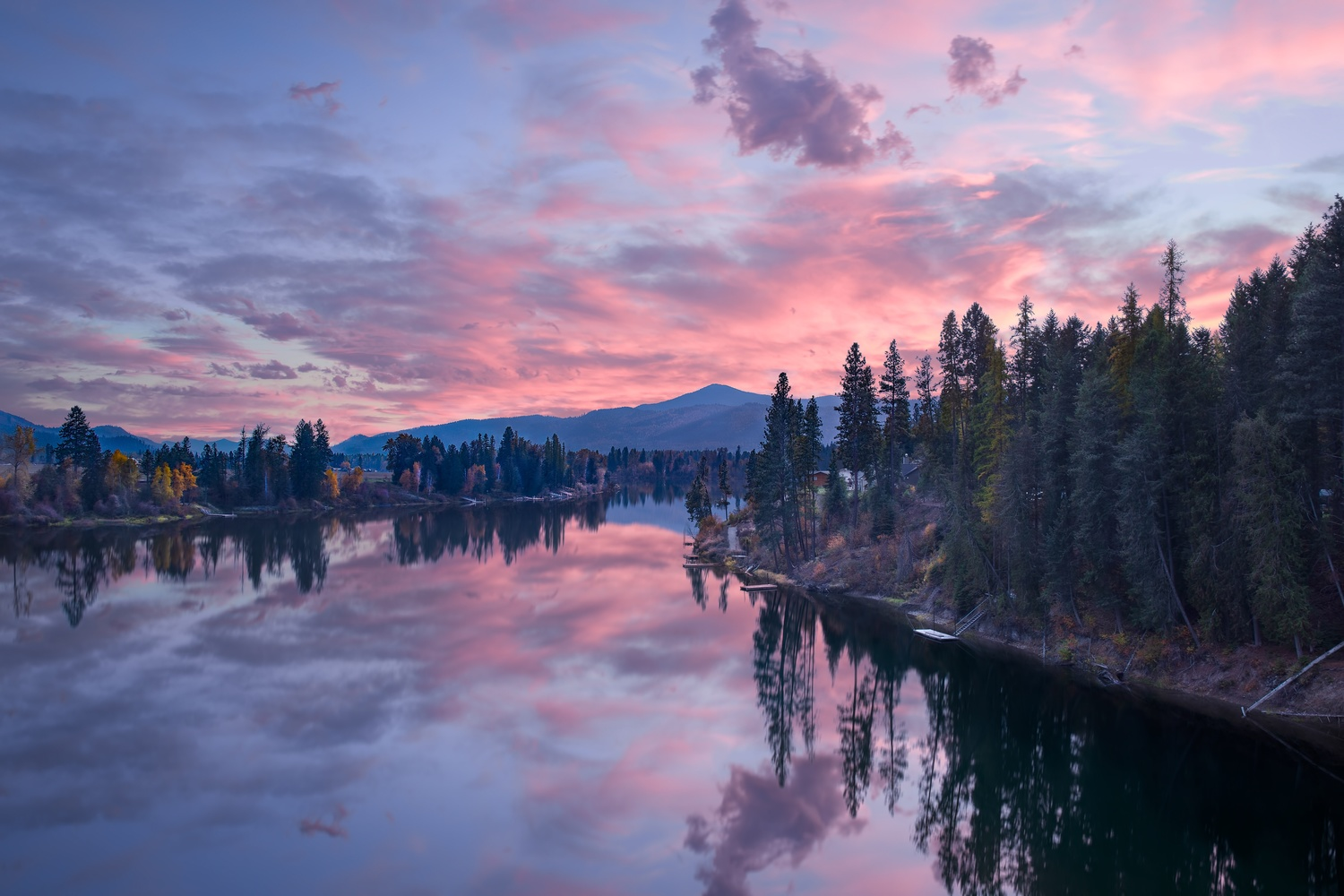 North Pend Oreille Sunset by Christopher Scott
