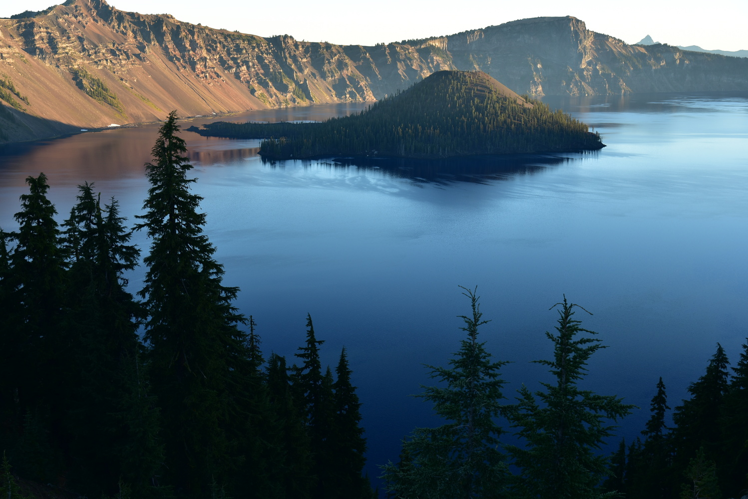 Wizard Island, Crater Lake, Oregon by Michael O