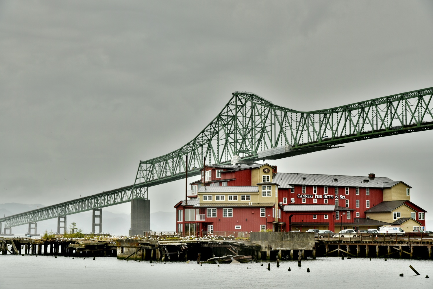 Cannery Pier Hotel and Spa, Astoria, Oregon by Michael O