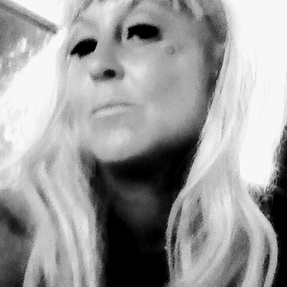 Black and White Self Image by Sandy Sinn