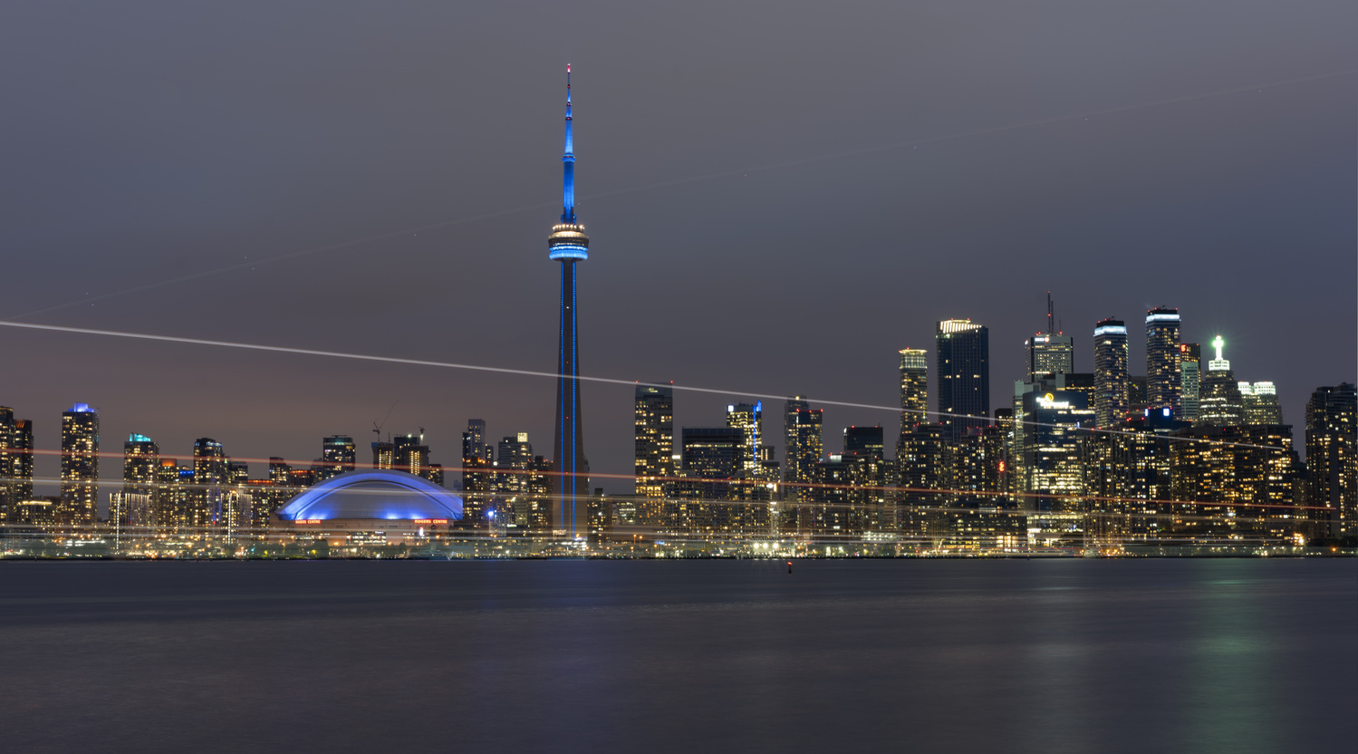 Toronto Skyline by Hameed Bhatti