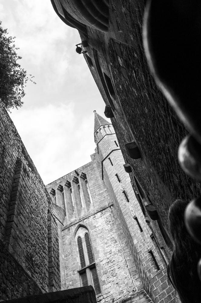 Mont Saint Michel, inside by Avram Silberztein