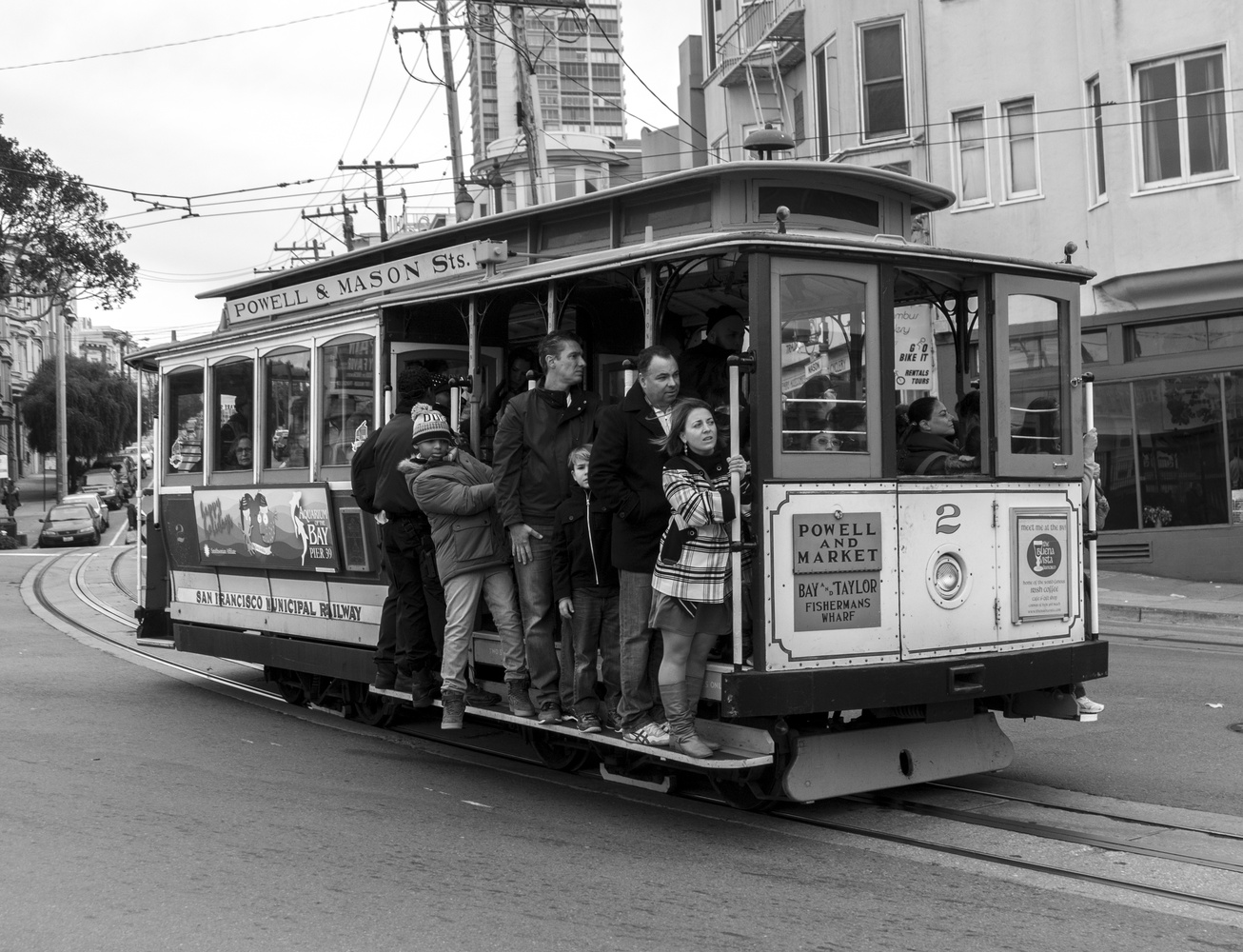 Trolley on Columbus Ave San Francisco by Avram Silberztein