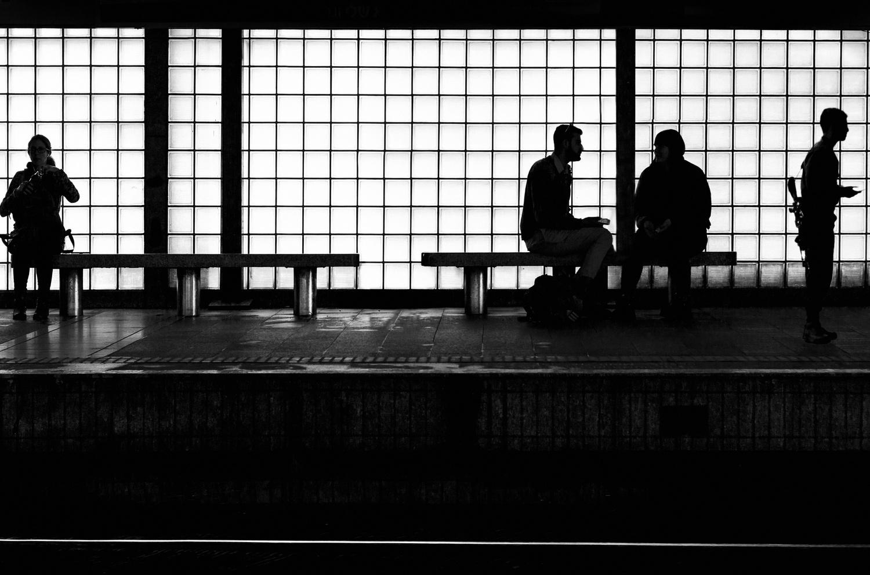 waiting for the train by Yoav Eshel