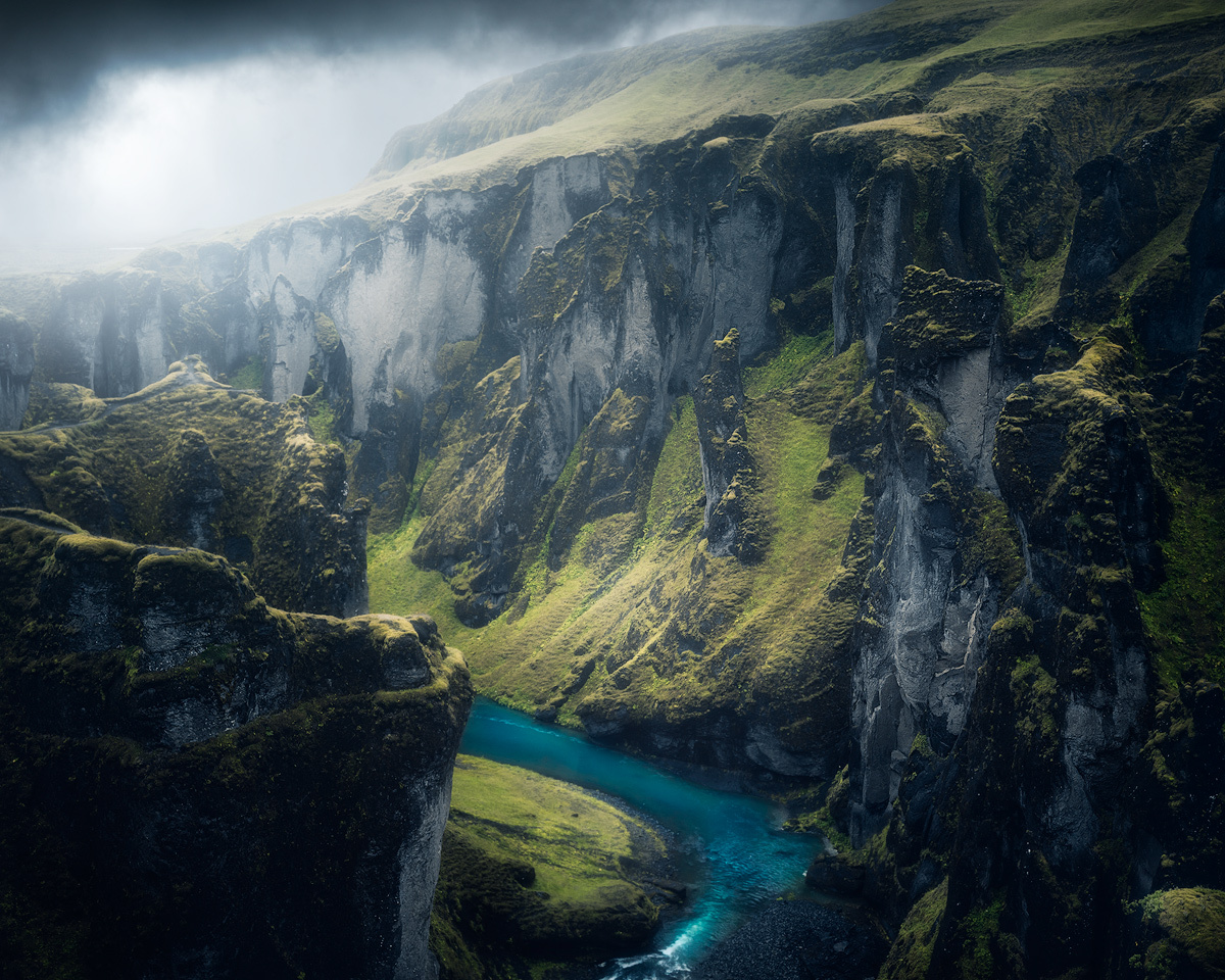 Moody at Fjaðrárgljúfur canyon by Fredrik Strømme