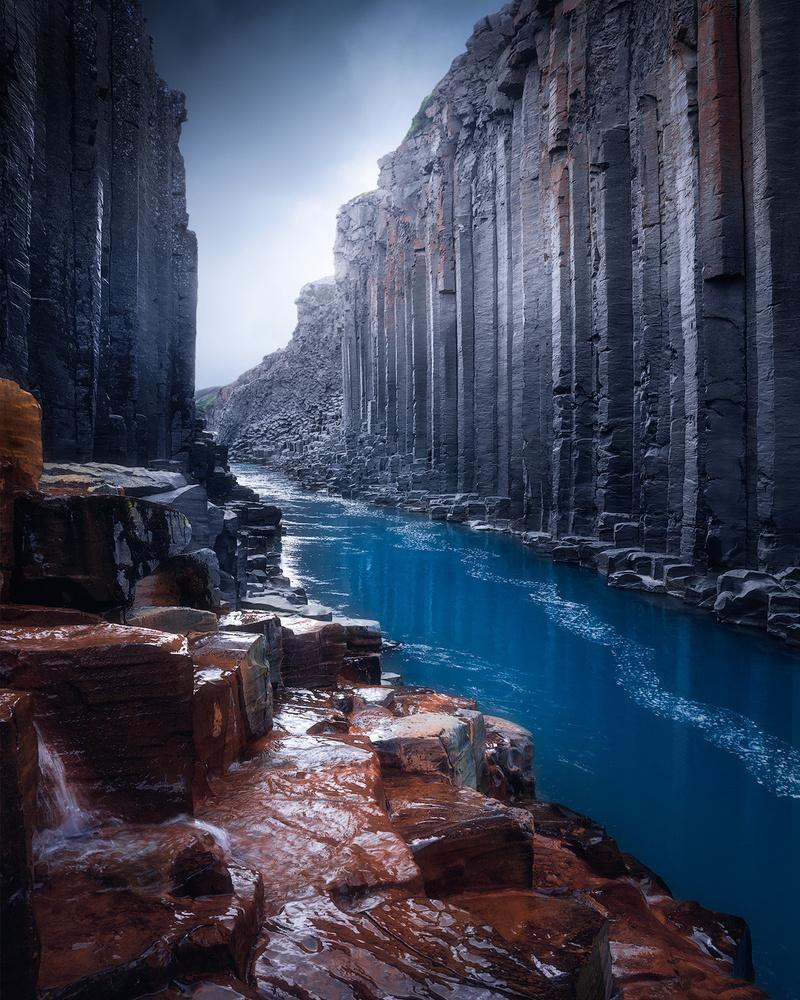 The basalt canyon by Fredrik Strømme