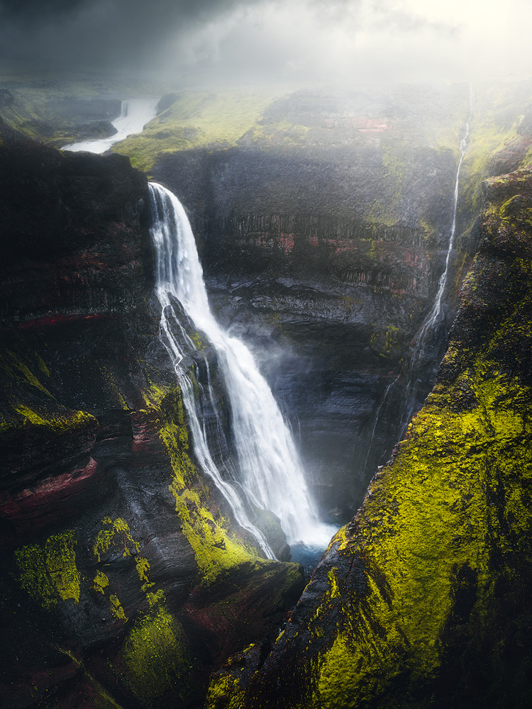 Granni waterfall on Iceland by Fredrik Strømme