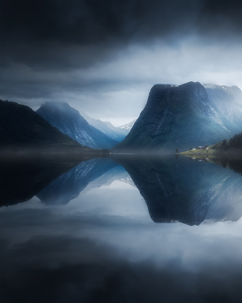 Moody day by the fjord by Fredrik Strømme