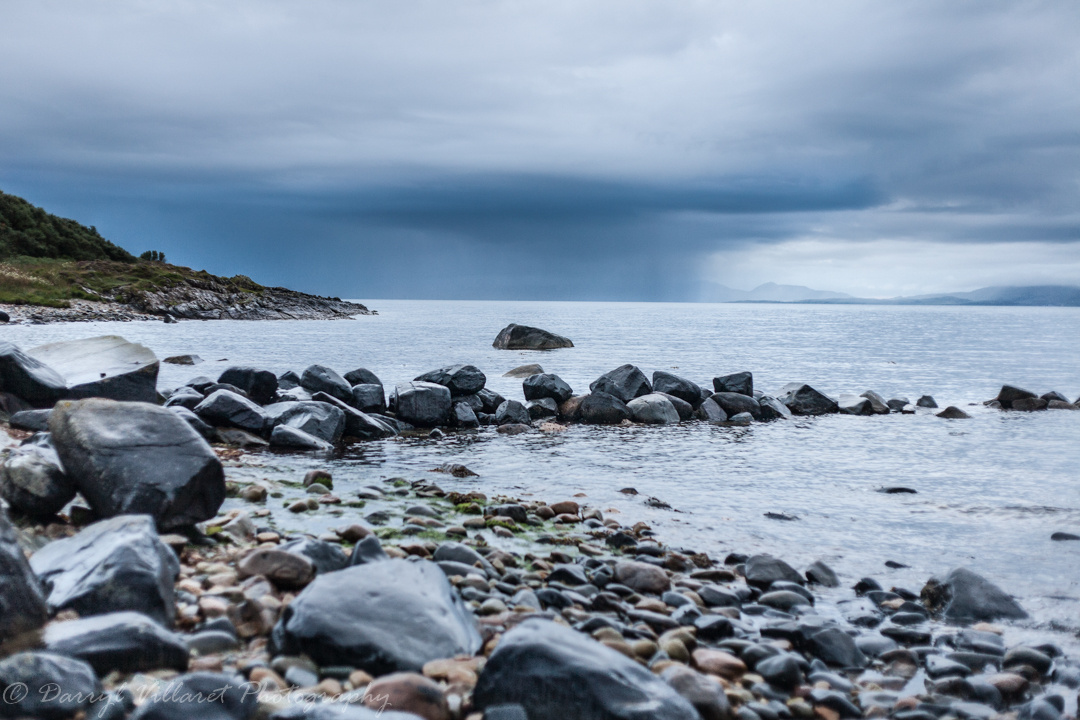 Kilberry shore before the storm by Darryl Villaret