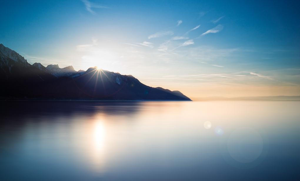 Calm over Lake Geneva by Liam Hammersley