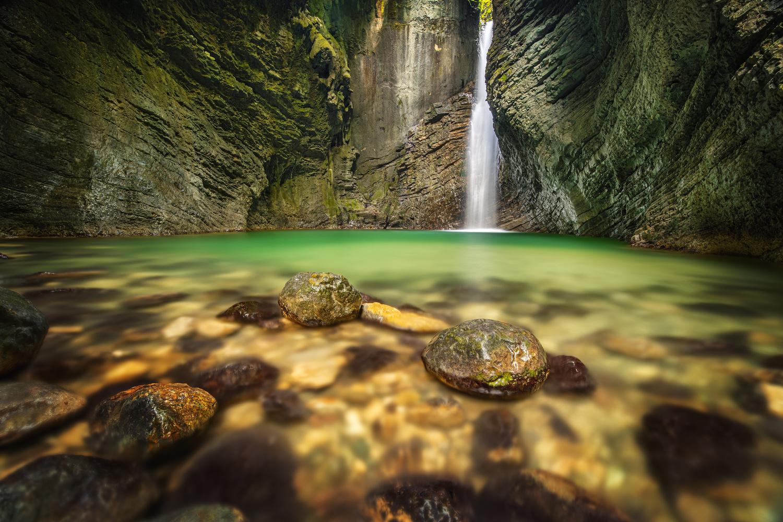 Waterfall Kozjak by Tadej Žlahtič